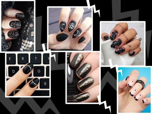 Nail Art Black Unghie Nere Per Una Dark Manicure Grazia It
