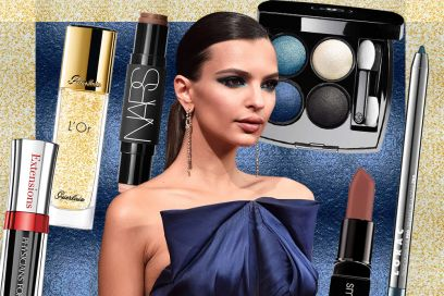 Emily Ratajkowski make up: copia il trucco blu per occhi marroni