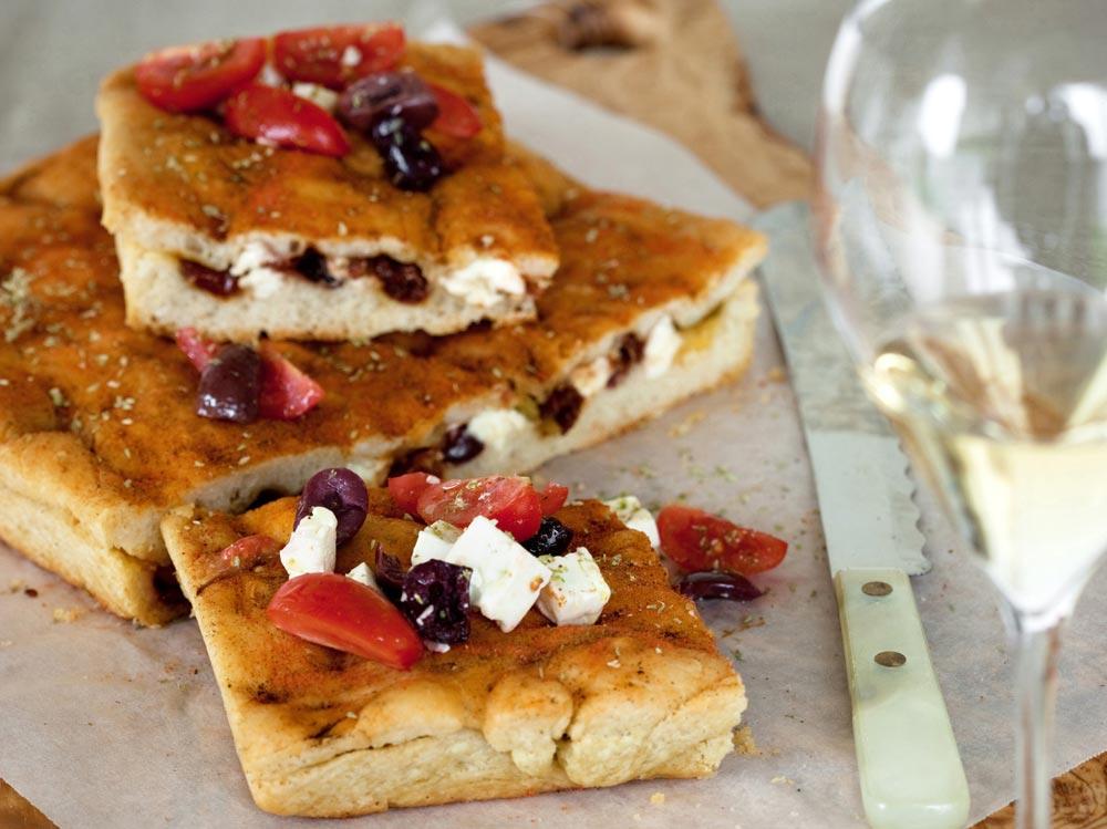focaccia morbida con le olive