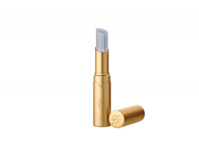 make up olografico rossetto too faced la creme unicorntears