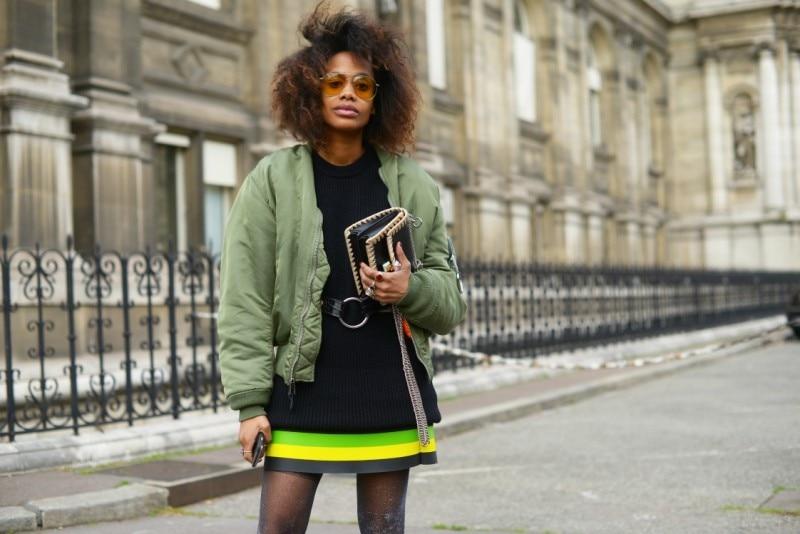 street style parigi bomber verde