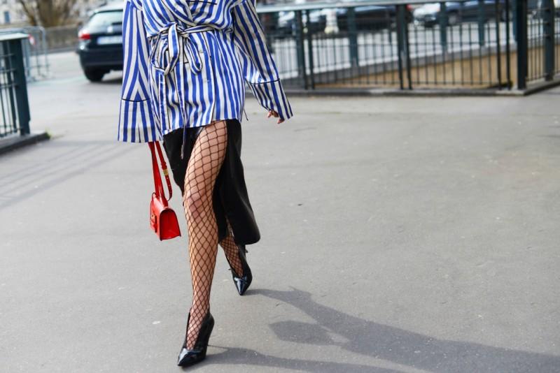 street style parigi calze rete