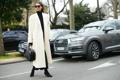 street style parigi cappotto bianco
