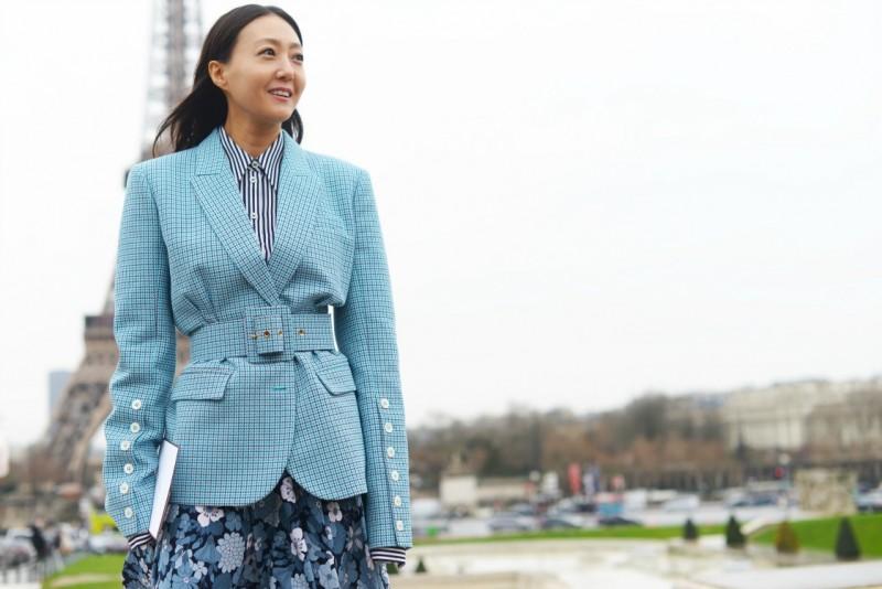 street style paris 17 giacca quadri