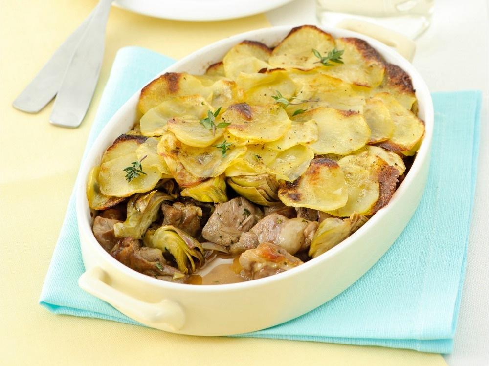 Capretto arrosto in crosta di patate