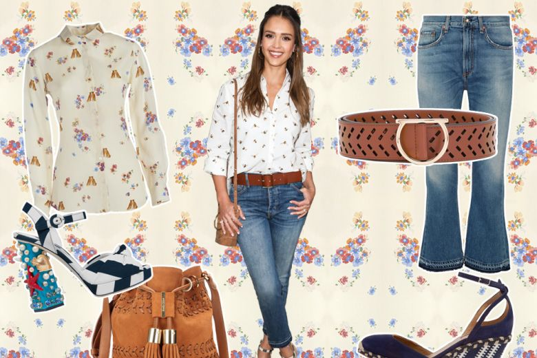 Easy-chic come Jessica Alba: get the look!