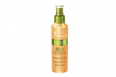 YR-143959-Solaire Peau Parfaite – Etoiles des Dunes Polyactif VC╠ºgC╠ºtal FPS  SPF 50+  – Haute Protection – Lait – En – Spray