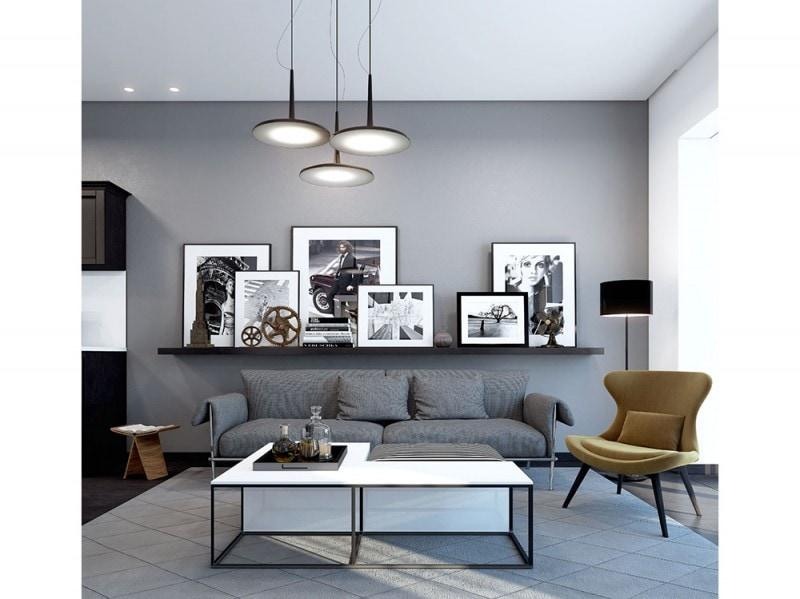 Come arredare la parete dietro al divano - Parete attrezzata con divano ...