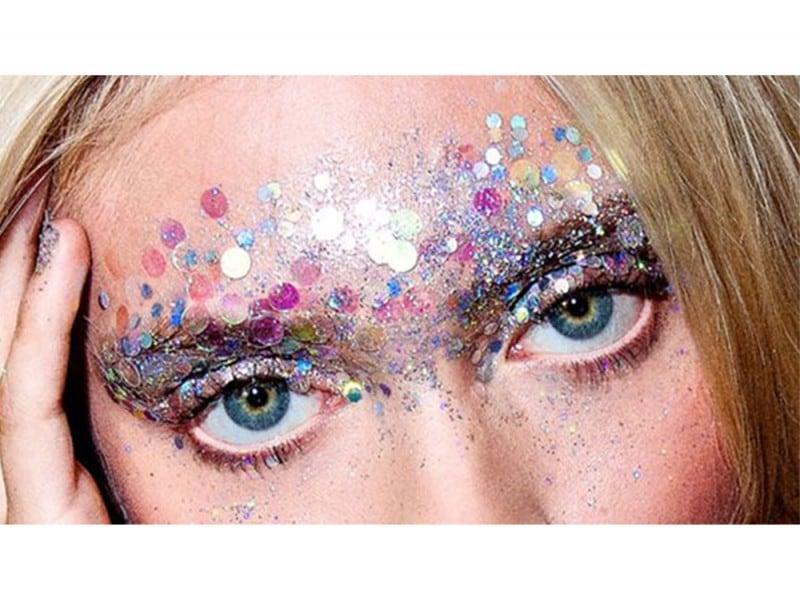 make up viso glitter festival look (1)