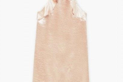mango abito satin rosa