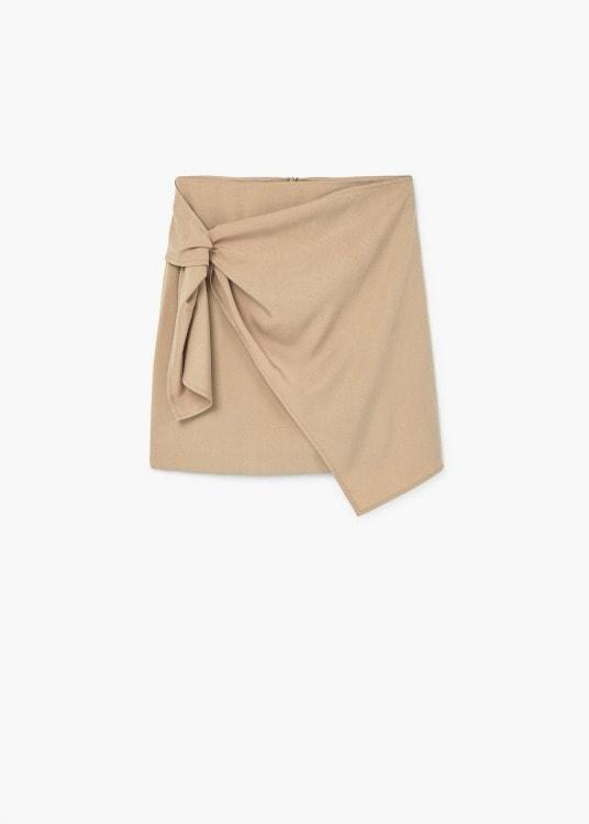 mango minigonna cammello