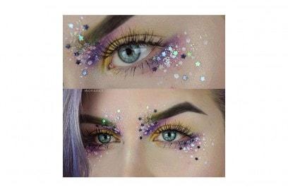 trucchi occhi glitter per la stagione dei festival (6)