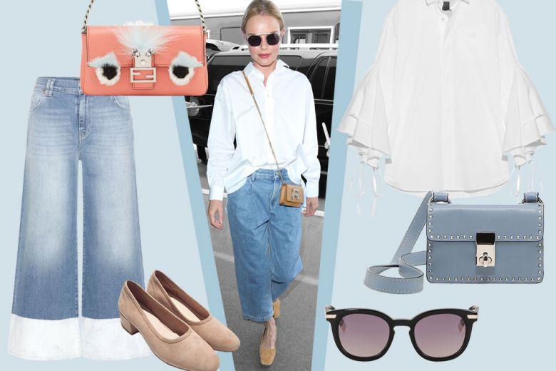 Jeans e camicia bianca: il look basic di Kate Bosworth