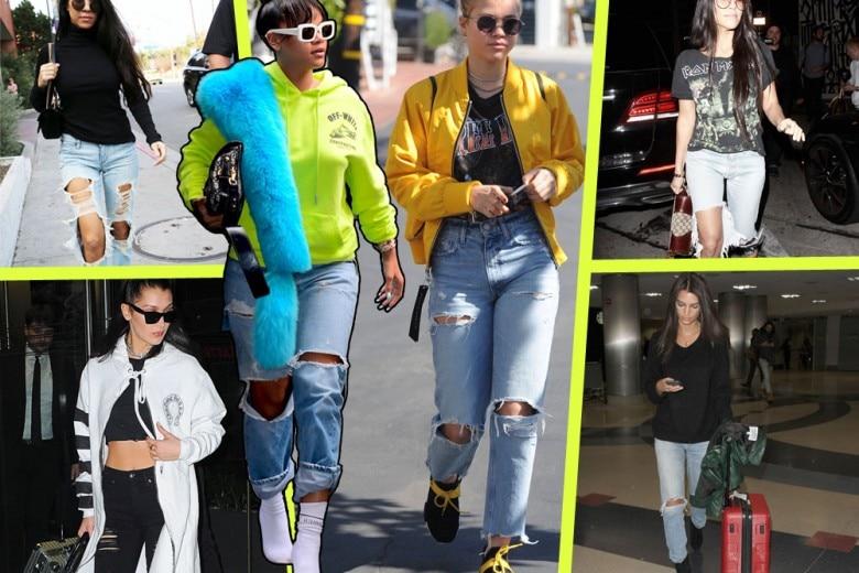 """Jeans strappati: il denim """"ripped"""" va ancora di moda"""