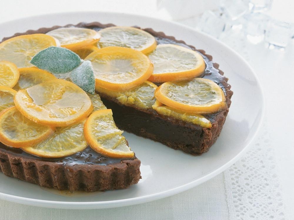 Crostata morbida con cioccolato e marmellata d arance
