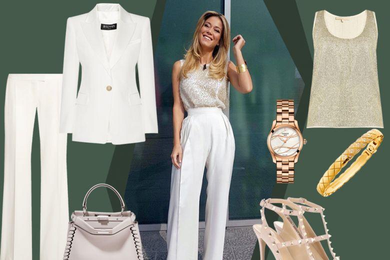 Diletta Leotta: il look bianco e oro da copiare!