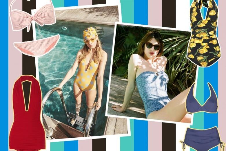 Costumi: i modelli in stile vintage per l'estate