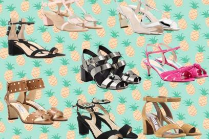 Tacco medio per i sandali estivi