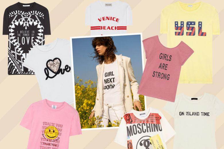 Le t-shirt con le scritte più cool della primevera-estate 2017