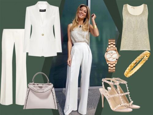 online store 76dac b7776 Diletta Leotta: il look bianco e oro da copiare! - Grazia.it
