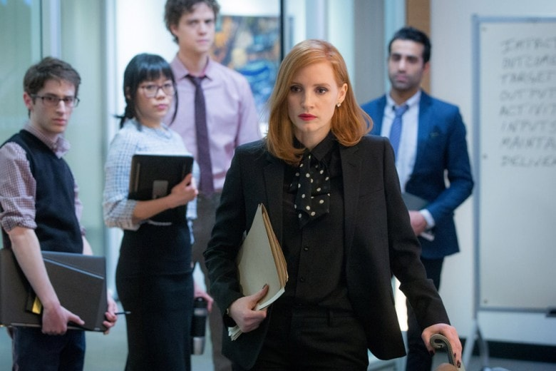 "Miss Sloane, i look da ""power woman"" di Jessica Chastain"