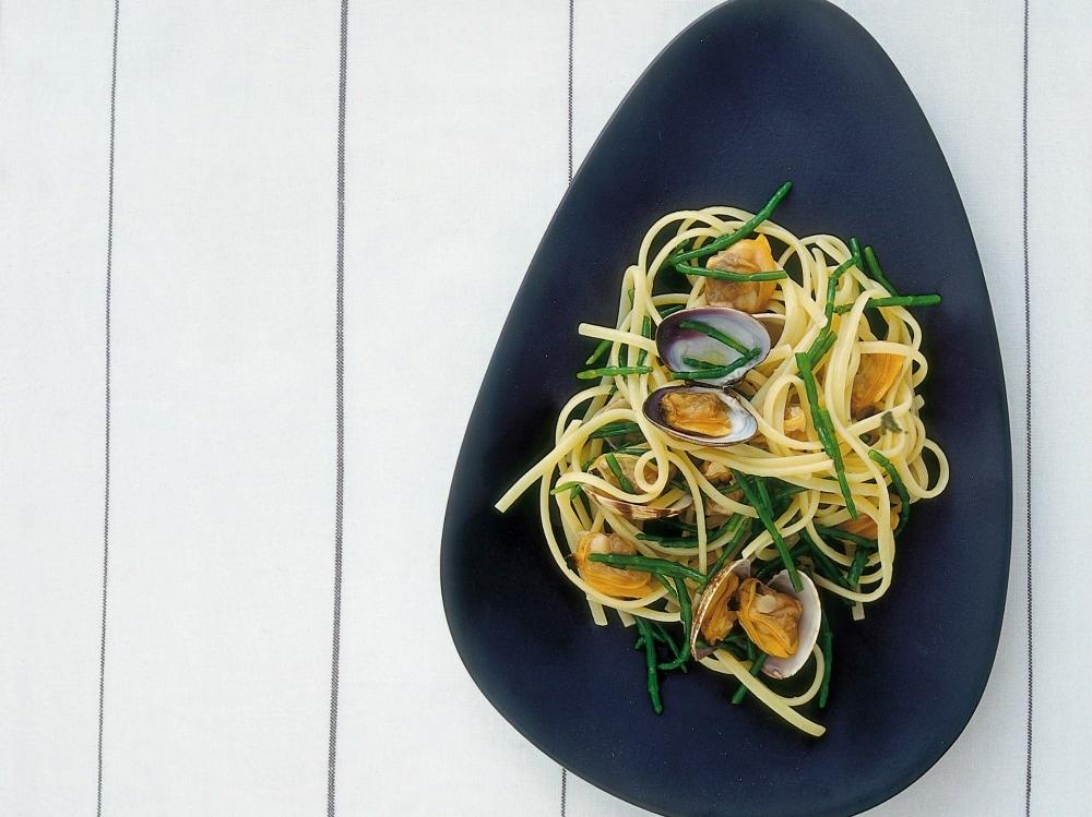 Pasta alle vongole e asparagi di mare (3)