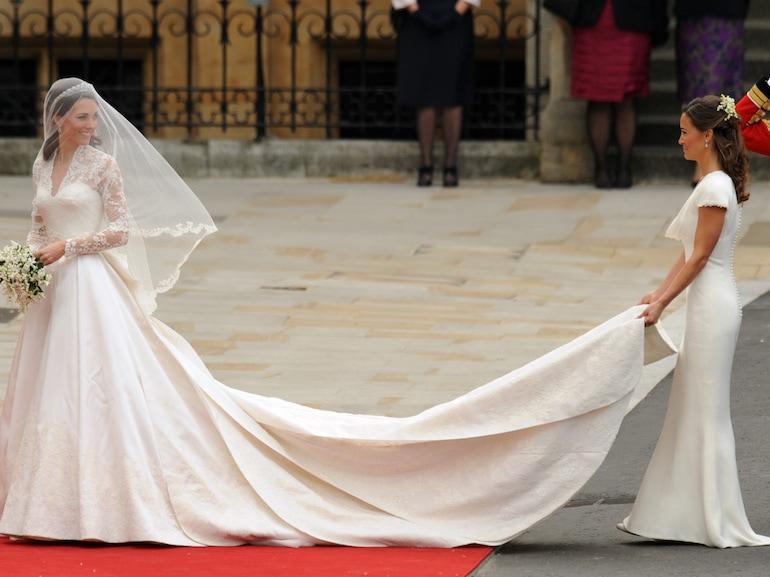 Kate Middleton arrives with her sister,