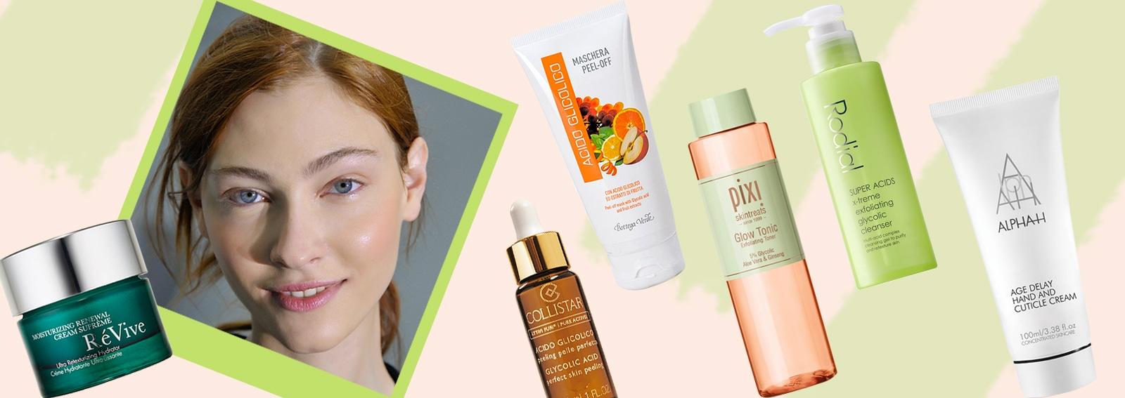 acido glicolico prodotti viso pelle levigata purificata perfetta giovane collage_desktop