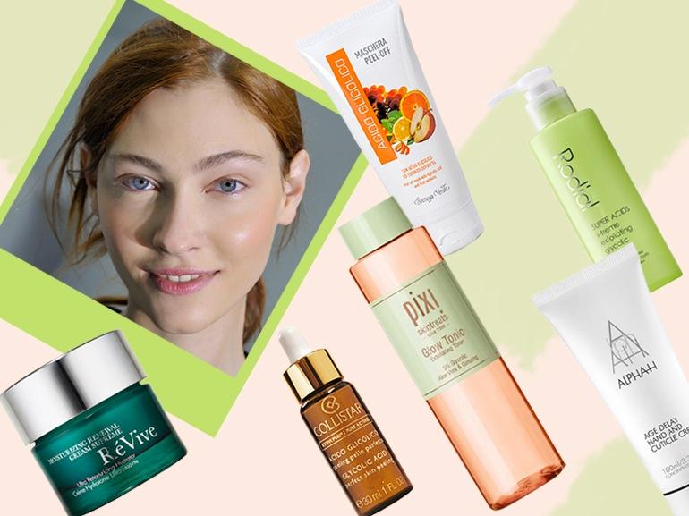 acido glicolico prodotti viso pelle levigata purificata perfetta giovane collage_mobile