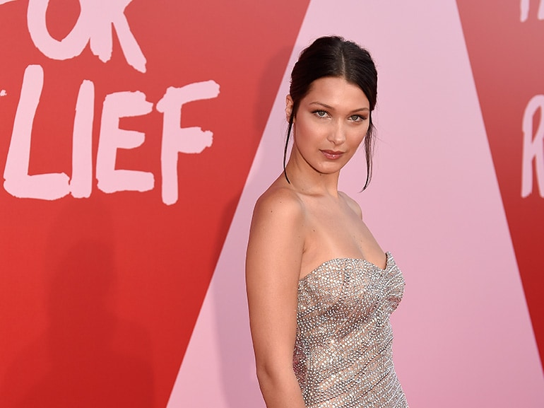 bella hadid fashion for relief