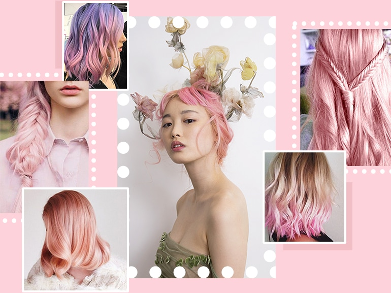 capelli rosa millennial pink collage_mobile