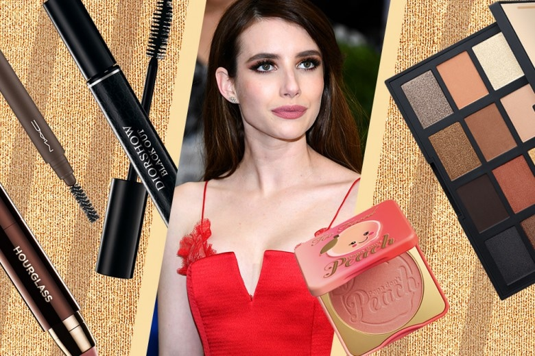 Copia il trucco di Emma Roberts: smokey eyes marrone e oro