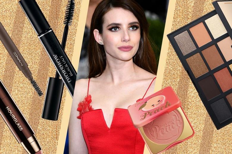 Copia il trucco di Emma Roberts: smokey eyes marrone e oro