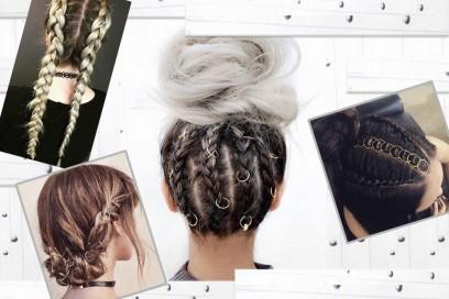 Hair piercing e pierced braids: il trend dei gioielli tra i capelli