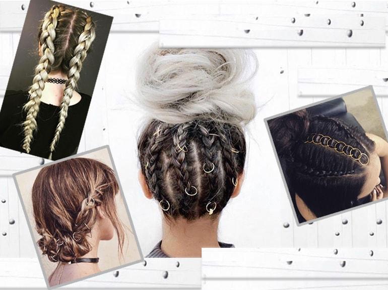 Hair piercing e pierced braids