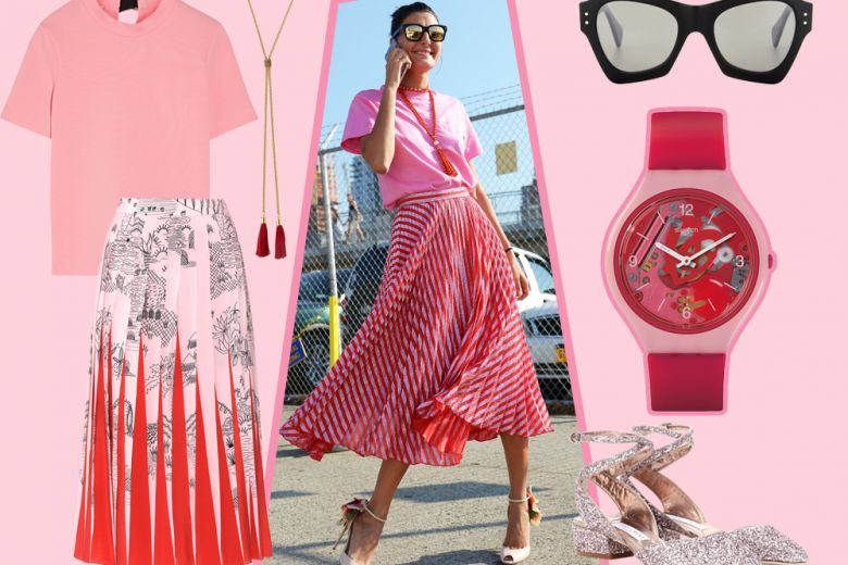 Get the look: pink & chic con note di rosso
