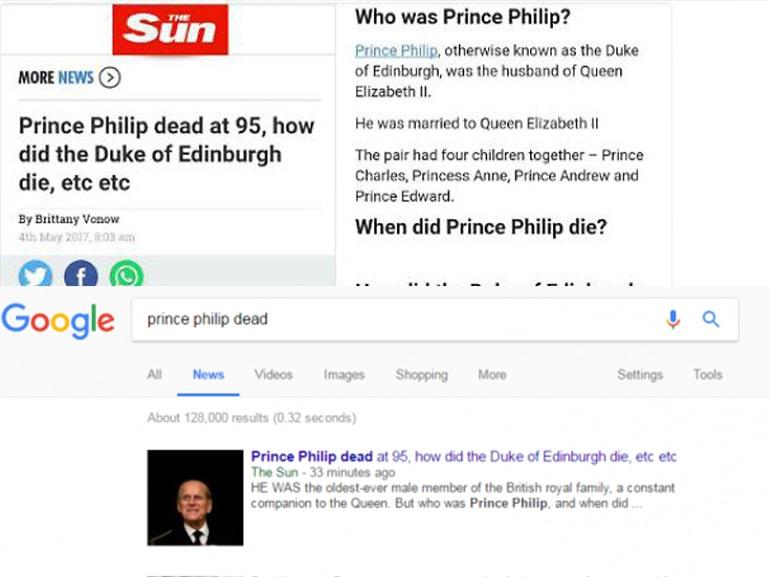 principe filippo morto gaffe
