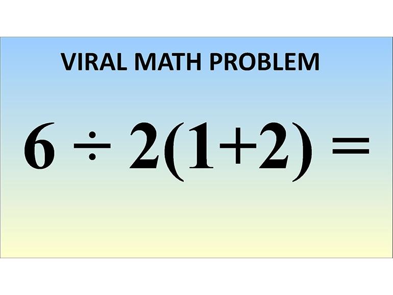 problema matematico virale