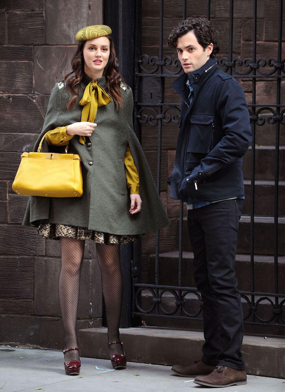 """Leighton Meester Sends Penn Badgley into Hysterics While Shooting """"Gossip Girl"""""""