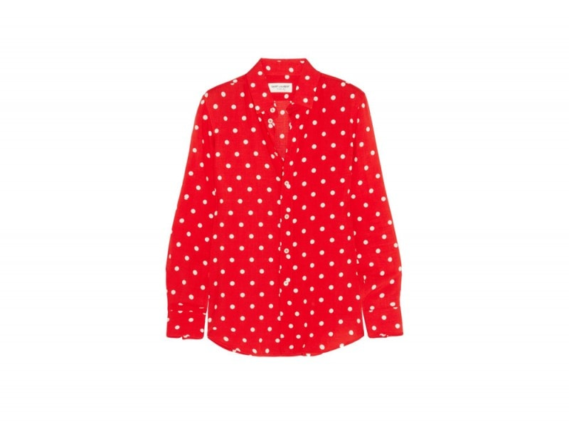 saint-laurent-camicia-pois