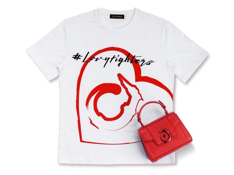 trussardi-#LOVYFIGHTERS-T-Shirt