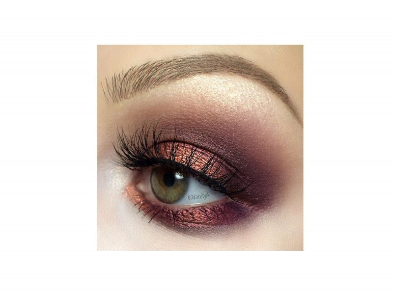 Smokey eyes rose gold