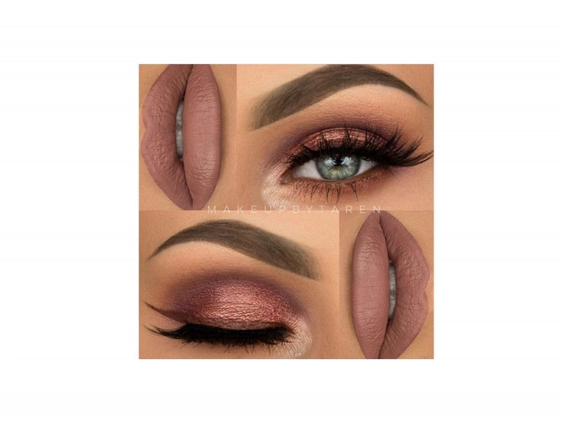 Make up rose gold