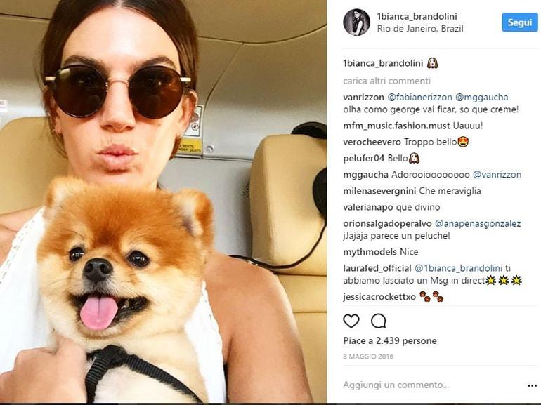 Bianca-Brandolini-d'Adda-gusti-curiosita-passioni-modella-attrice-italobrasiliana-socialite-cagnolino-pet