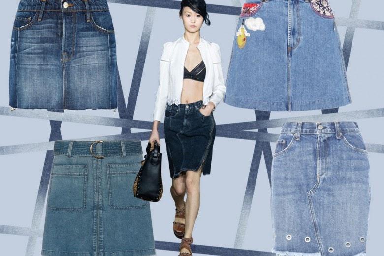 Denim mania: 10 gonne in jeans per l'estate