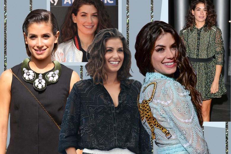 Giulia Michelini beauty look: capelli e trucco dell'attrice