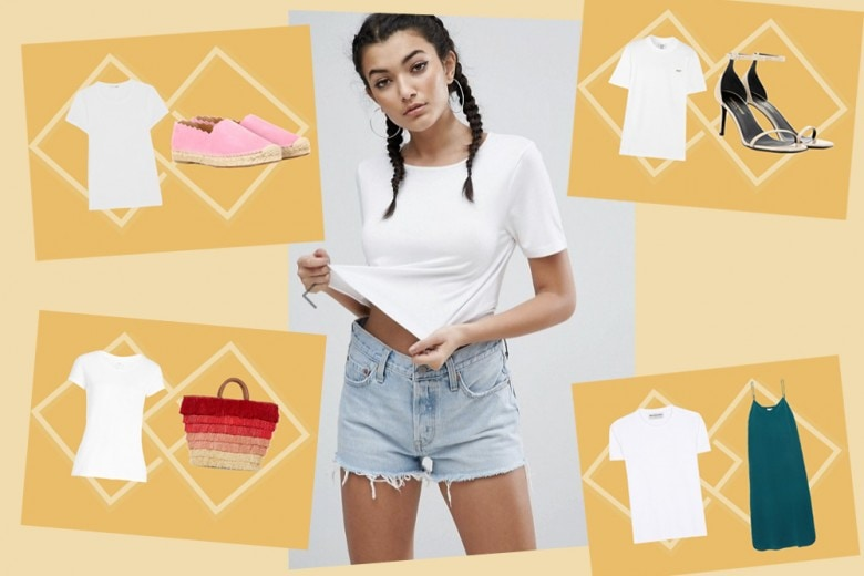T-shirt bianca: come abbinarla in 8 outfit
