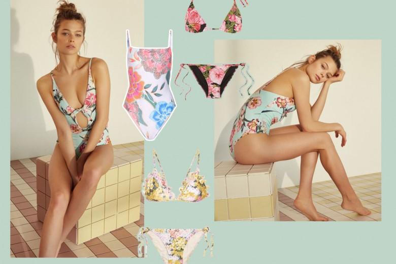 Costumi da bagno a fiori: i modelli più romantici dell'estate 2017