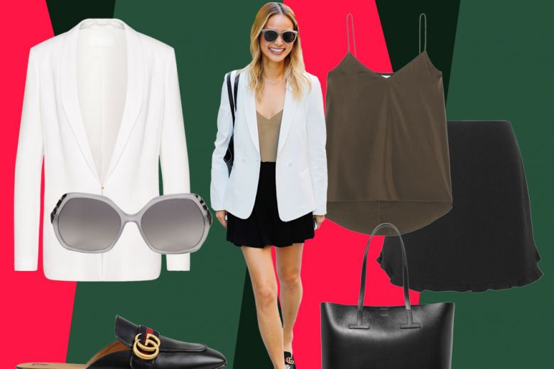 Jamie Chung: outfit chic con il blazer bianco