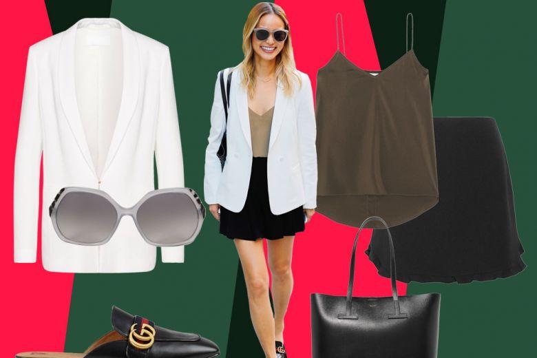 Jamie Chung: outfit chic con il blazer bianco